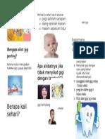 Leaflet Cara Sikat Gigi