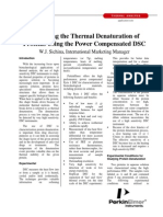 Thermal Proteins Denaturation Using DSC