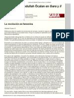 La Revolucion Es Femenina - Columna de Abdullah Öcalan en Gara y _il Manifesto