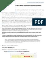 Tutorial Dasar Cara Daftar Akun Pinterest Dan Penggunaan Singkat Merged