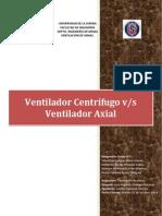 V. Centrífugo vs Axial
