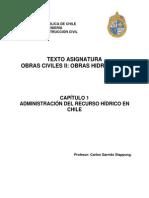 Capítulo 1 - Administración Hidrica en Chile