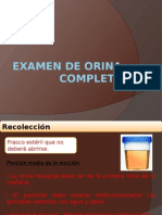 Examen de Orina Completa
