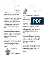 may 1 welcome letter