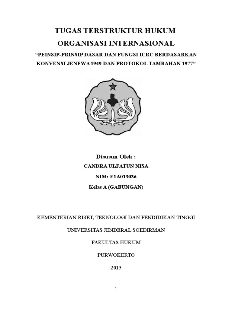 Tugas Makalah Hukum Organisasi Internasional