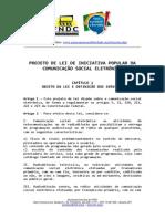 Projeto de Iniciativa Popular de Lei para a Midia Democrática