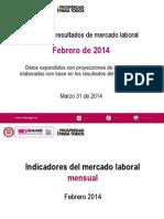 Indicadores del mercado laboral   Principales resultados de mercado laboral