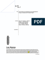 Cultural Resource Assessment for the Department of Energy Conveyance and Transfer Project