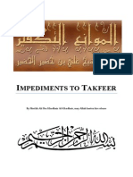 Impediments to Takfeer