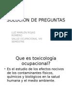 Preguntas en Toxicologia