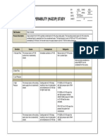 Sample HAZOP Study Worksheet (P&ID 100-002)