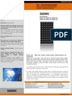 Panel Fotovoltaico S60MC - Datasheet