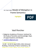 A Formal Model of Metaphor in Frame Semantics