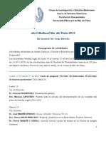 Cronograma de Actividades Abril 2015