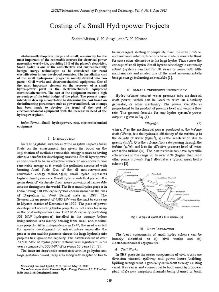 357-P013 | Hydroelectricity | Renewable Energy