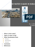 how fresh water is made in dubai