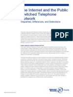 The Internet and the Public Switched Telephone Network