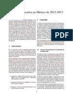 Reforma Educativa en México de 2012-2013