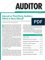 Internal or Third-Party Auditor - Which is More Ethical