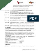 Especificaciones Particulares Calcahualco 1a. ETAPA