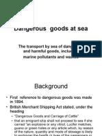 Dangerous Goods at Sea