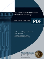 Fundamentalist Distorsion of Islamic Message