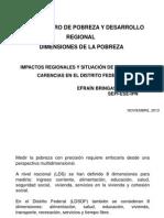 Impactos Regionales, Situación de Pobreza y Carencias en El DF_Efraín Bringas