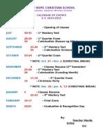 Calendar of Events Final