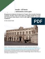Via Il Busto Del Giurista-razzista Gaetano Azzariti Corr d Sera 31.03.2015