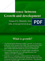 Difference Between Growth and Development