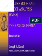 Failure Mode Effect Analysis FMEA
