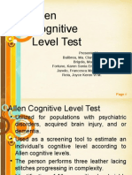 Allen Cognitive Level Testreport 1