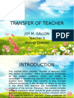 Transfer of Teacher Presentation