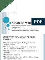 TomasinoWeb Sports Writing Lecture
