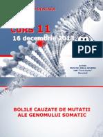 Genetica MD - Curs 11 Decembrie 2013