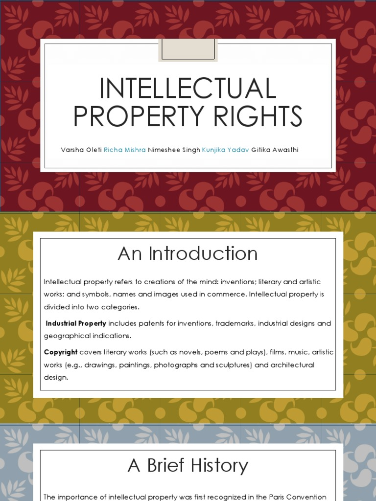 intellectual property rights notes