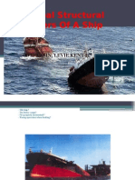 Principal structural members of a ship