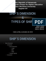 Ships dimension types of ships