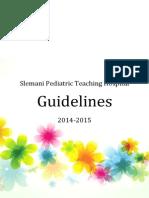 Slemani Pediatric Teaching Hospital Guidelines