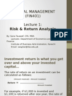Risk & Return Analysis