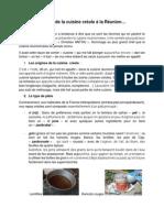 Histoire de la cuisine réunionnaise