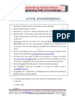 GATE Civil Engineering 2015_Mock 2