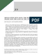 Regulation Run Mad