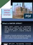 Water Spray System Presentation