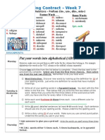 Spelling Contract Week 7 - 2013 to 2014 - Derivational Relations