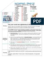 Spelling Contract Week 13 - 2014 to 2015 - Derivational Relations