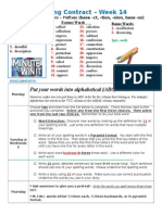 Spelling Contract Week 14 - 2014 to 2015 - Derivational Relations
