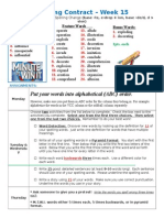 Spelling Contract Week 16 - 2014 to 2015 - Derivational Relations