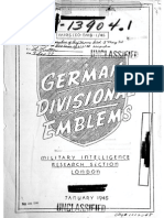 German Divisional Emblems USA 1945