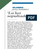 'La luz sepultada' - Columna de Encarna Samitier (Heraldo de Aragón)